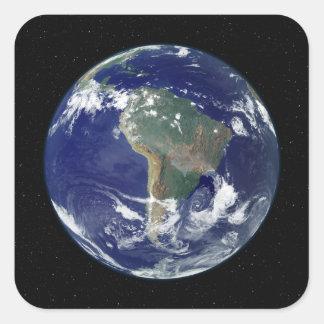 南アメリカに集中する十分につけられた地球 スクエアシール