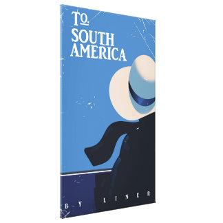 南アメリカのヴィンテージ旅行ポスターに キャンバスプリント