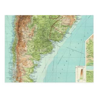 南アメリカの南部 ポストカード