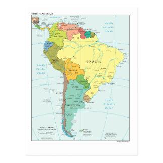 南アメリカの地図 ポストカード