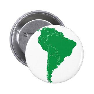 南アメリカの地図 5.7CM 丸型バッジ