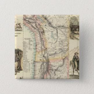 南アメリカの西海岸 5.1CM 正方形バッジ