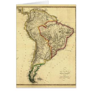 南アメリカの1817地図 カード