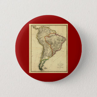 南アメリカの1817地図 5.7CM 丸型バッジ