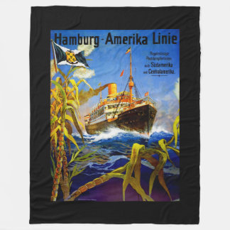 南アメリカへのハンブルクアメリカ フリースブランケット