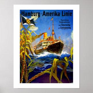 南アメリカへのハンブルクアメリカ プリント