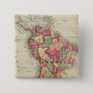 南アメリカ4 5.1CM 正方形バッジ