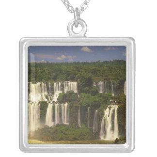 南アメリカ、アルゼンチン、ブラジル、Igwacuの滝、 シルバープレートネックレス