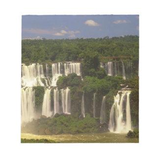 南アメリカ、アルゼンチン、ブラジル、Igwacuの滝、 ノートパッド