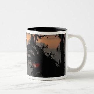 南アメリカ、エクアドルの雲の森林場面 ツートーンマグカップ
