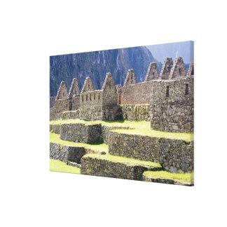 南アメリカ-ペルー。 無くなったインカ人の石細工 キャンバスプリント
