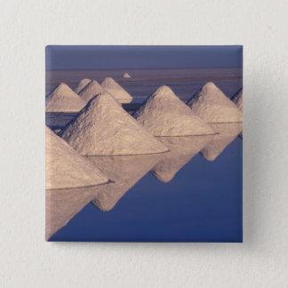 南アメリカ、ボリビア。 サラール族de Uyuni 5.1cm 正方形バッジ
