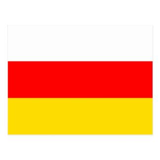 南オセチアの国民の世界の旗 ポストカード