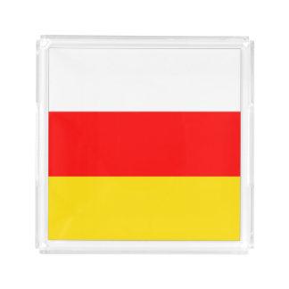 南オセチアの旗 アクリルトレー