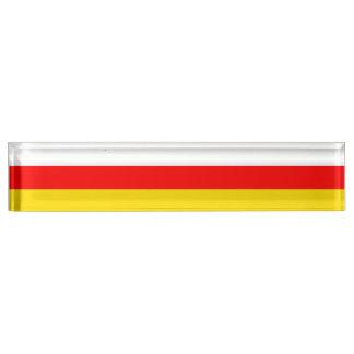 南オセチアの旗 デスクネームプレート