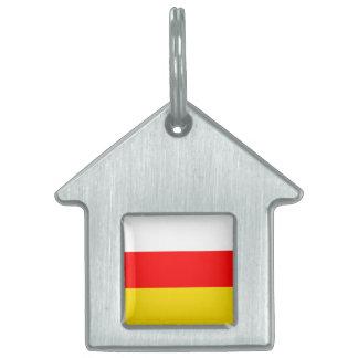 南オセチアの旗 ペットネームタグ