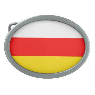 南オセチアの旗 卵形バックル