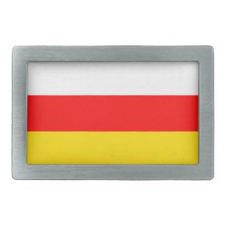 南オセチアの旗 長方形ベルトバックル