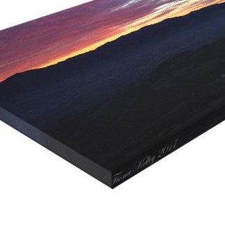 南オレゴンの山上の日没 キャンバスプリント