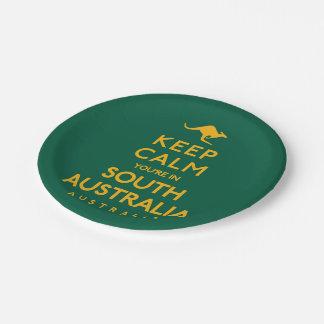 南オーストラリアの平静をあなたは保って下さい! ペーパープレート