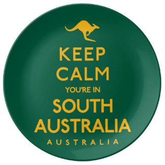 南オーストラリアの平静をあなたは保って下さい! 磁器プレート