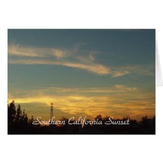南カリフォルニア日没 カード