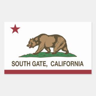 南ゲートカリフォルニア共和国の旗 長方形シール