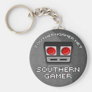 南ゲーマーKeychain ベーシック丸型缶キーホルダー