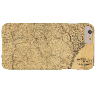 南ジョージアの地図およびサウスカロライナの部分 BARELY THERE iPhone 6 PLUS ケース