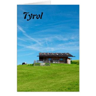 南チロルの高山の小屋 カード