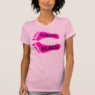 南ビーチ裸足の Tシャツ