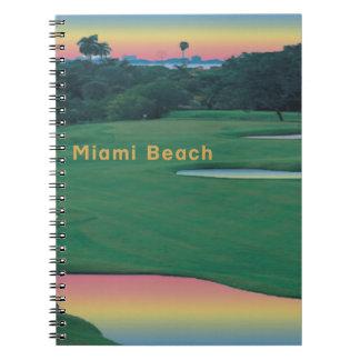 南ビーチ-マイアミのゴルフ ノートブック