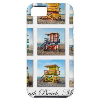 南ビーチ、マイアミのライフセービングの掘っ建て小屋 iPhone SE/5/5s ケース