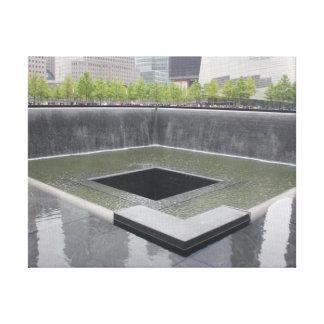 南プールの~ 9/11の記念物 キャンバスプリント