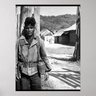 南ベトナムの兵士1966年。  (USIA)厳密なDATE_ ポスター