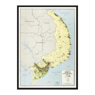 南ベトナムの地図1972年9月 キャンバスプリント