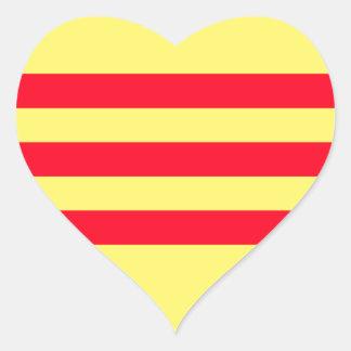 南ベトナムの旗 ハートシール