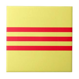 南ベトナムの旗 正方形タイル小