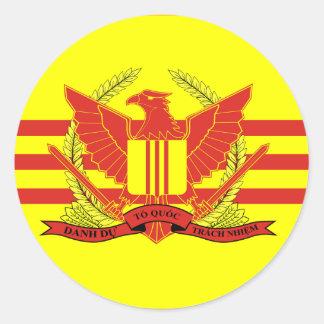 南ベトナムの軍事力の旗の共和国 丸形シールステッカー