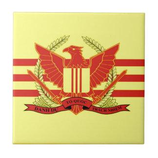 南ベトナムの軍事力の旗の共和国 正方形タイル小