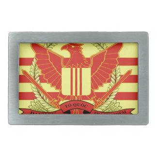 南ベトナムの軍事力の旗の共和国 長方形ベルトバックル