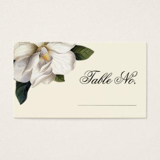 南マグノリアの植物の結婚式の護衛カード 名刺