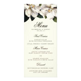 南マグノリアの植物の結婚式メニューカード ラックカード