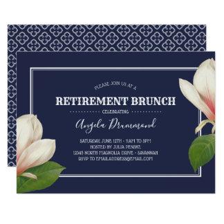 南マグノリアの青い退職のブランチ カード