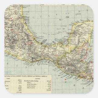 南メキシコ中央アメリカ スクエアシール