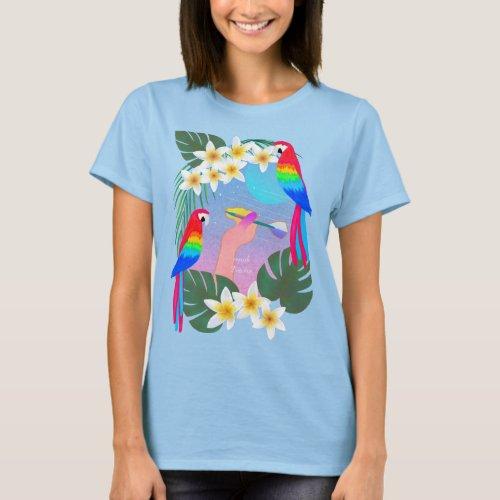 南国の美しいダーツ Tシャツ