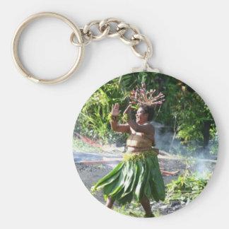 南太平洋の火歩行のダンス キーホルダー