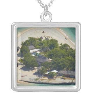 南太平洋諸島、Mamanucaの島、フィージー シルバープレートネックレス