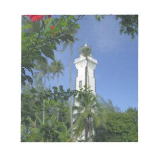 南太平洋、フランス領ポリネシア、タヒチ。 ハイビスカス2 ノートパッド
