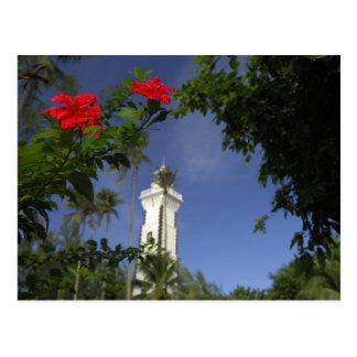 南太平洋、フランス領ポリネシア、タヒチ。 ハイビスカス3 ポストカード
